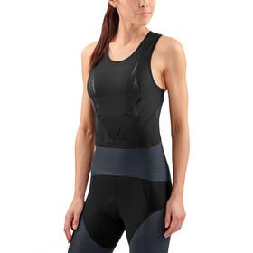 Skins DNAmic Triathlon Hardloopshirt zonder mouwen Dames grijs/zwart
